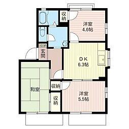 ガ−デンハウス・M[1階]の間取り