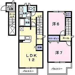 ムーンライト茨木[2階]の間取り