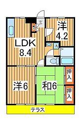 ラブリーホームB[1階]の間取り