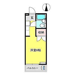S・ASUKA 1階ワンルームの間取り