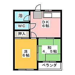 坂野ビル[4階]の間取り
