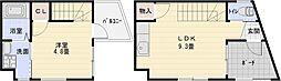 [タウンハウス] 大阪府柏原市古町1丁目 の賃貸【/】の間取り