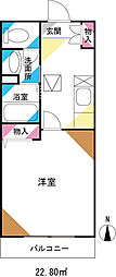 メゾンドQ大和田[2階]の間取り