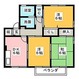 Condominio A棟[2階]の間取り