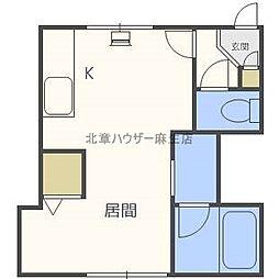 ARS Asabu one[1階]の間取り
