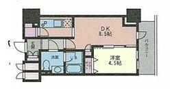 ドゥーエ幡ヶ谷[1606号室]の間取り