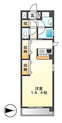エピュレ[4階]の間取り