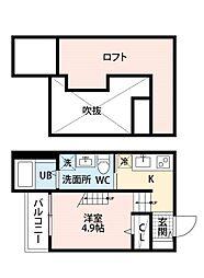 シーポート御島崎[2階]の間取り