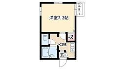 愛知県名古屋市名東区大針1丁目の賃貸アパートの間取り