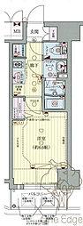 プレサンス梅田II 7階1Kの間取り