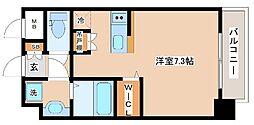 JR山陽本線 新長田駅 徒歩2分の賃貸マンション 6階ワンルームの間取り