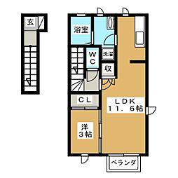 仮)DM東中田2[2階]の間取り
