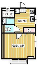 カンパーニュA棟[2階]の間取り