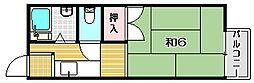 大阪府茨木市沢良宜西3丁目の賃貸アパートの間取り