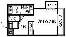 大阪府岸和田市加守町4丁目の賃貸アパートの間取り