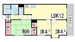 兵庫県神戸市中央区神若通3丁目の賃貸マンションの間取り