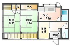 [一戸建] 三重県津市修成町 の賃貸【/】の間取り