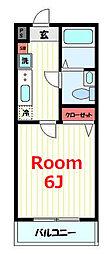 JR横須賀線 保土ヶ谷駅 徒歩7分の賃貸マンション 3階1Kの間取り