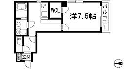 兵庫県宝塚市伊孑志1丁目の賃貸マンションの間取り