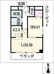 Riverble檀渓[2階]の間取り