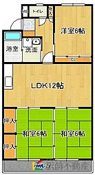 JR鹿児島本線 福工大前駅 徒歩7分の賃貸マンション 3階3LDKの間取り