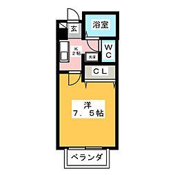 ボヌール和合[1階]の間取り