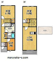 [テラスハウス] 神奈川県相模原市中央区淵野辺4丁目 の賃貸【/】の間取り