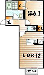Casa Felice A棟[2階]の間取り
