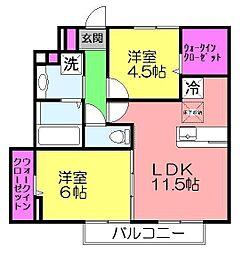 レグルス・K[105号室]の間取り