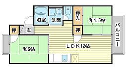 ファミール藤井[201号室]の間取り