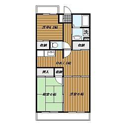 岩澤マンション[306号室]の間取り