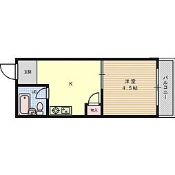 フロンティアハイツFUJIWARA[2階]の間取り