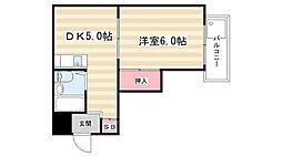 エスポワール田中1番館[302号室]の間取り