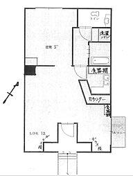 アメニティースクウェアYS[2階]の間取り