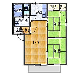 カーサKI[2階]の間取り