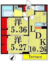 仮) D-room加賀[1階]の間取り