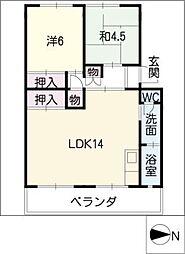 コーポ須ヶ口[3階]の間取り