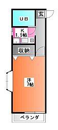 東京都北区豊島3の賃貸マンションの間取り