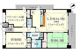 エスリード桃山台[2階]の間取り