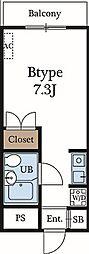 メゾンロートレック[1階号室]の間取り