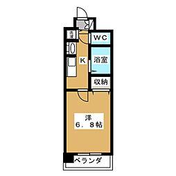 プレサンス京都三条響洛[4階]の間取り