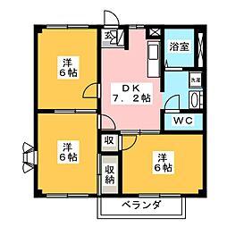 ピアーハイツ柴田 Ⅱ[2階]の間取り
