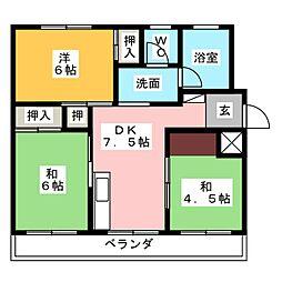 タカホ江尻台1[4階]の間取り