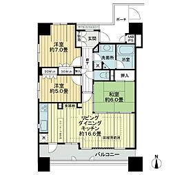 レジデンス熊谷[2階]の間取り