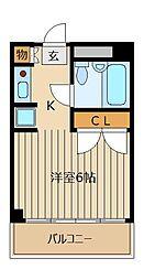クラウンロイヤル[3階]の間取り
