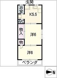 若山ハイツ[3階]の間取り