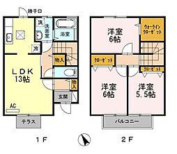 [テラスハウス] 広島県福山市新涯町1丁目 の賃貸【/】の間取り