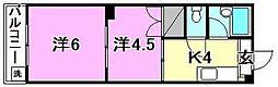 230セゾン素鵞[106 号室号室]の間取り