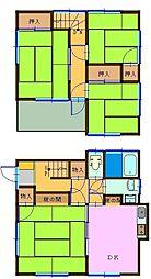 [一戸建] 千葉県船橋市西船3丁目 の賃貸【/】の間取り