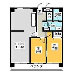 清幸マンション野田[7階]の間取り